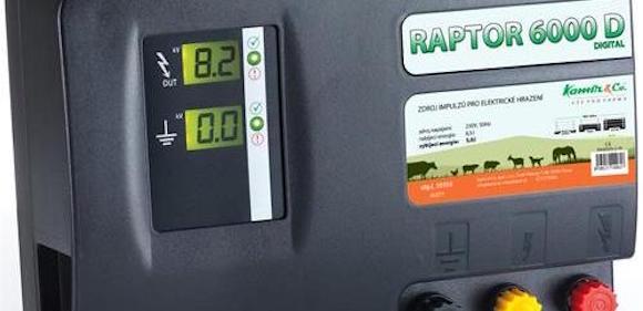 Nové elektrické ohradníky Raptor 6000 a Raptor 6000 D