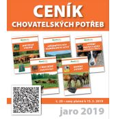Ceník chovatelských potřeb 2019