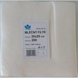 Filtr mléčný PERLAN, čtvercový, 20 x 20, 200 ks