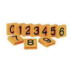 Číslo na opasek, výška znaku 32 mm - číslice 0-9 - 0