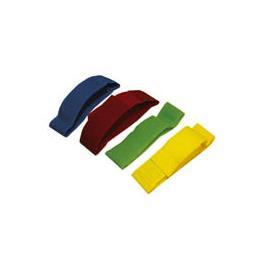 Páska na nohu pro označování krav, suchý zip - žlutá