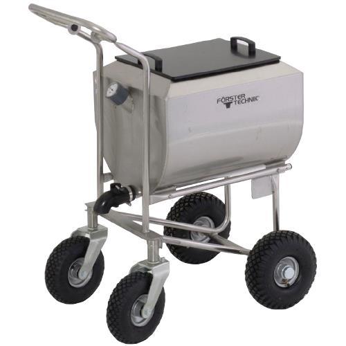 Vozík na mléko pro telata MilkBuggy 100 l nerez, s víkem a vypouštěcím kohoutem bez pojezdu