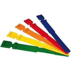 Páska na nohy pro označování krav plastová s prolisem - červená