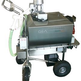 Vozík na mléko pro telata MilkBuggy 100 l nerez, topení, dávkování, bez pojezdu