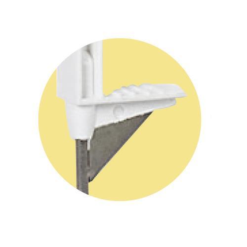 Tyčka pro elektrický ohradník AKO TITAN plus, plast bílý, 8 úchytů, 90 cm