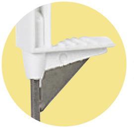Tyčka pro elektrický ohradník TITAN plus, plast bílý, 8 úchytů, 90 cm