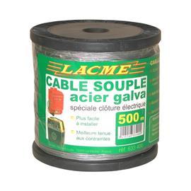 Ocelové lanko LACME pro elektrické ohradníky 1,5 mm, 500 m