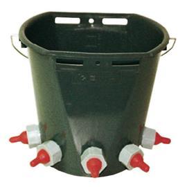 Kbelík k napájení jehňat 8 l, komplet s 5 dudlíky