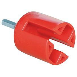Montážní hlavice červená - pro kruhové a ploché izolátory