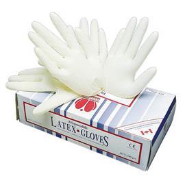 Jednorázové latexové rukavice LOON - pudrované - S