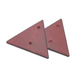Odrazka červená 2 ks, trojúhelník 155x135 mm, 2 otvory