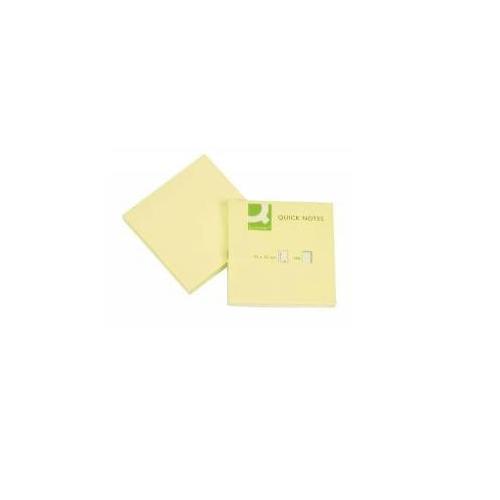 Blok samolepící lístky, žlutý, 100 listů 76x76 mm