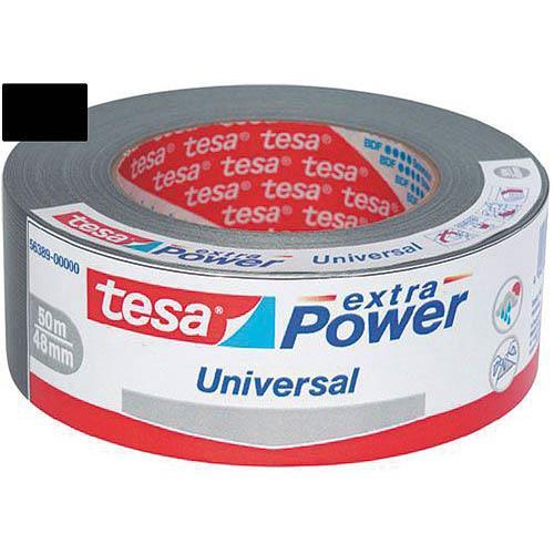 Páska textilní TESA Extra Power 50 mm x 25 m, stříbrná