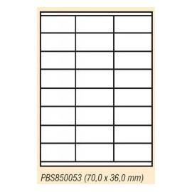 Etiketa univerzální A4, 24 ks štítků s okraji 70x36 mm, 100 listů