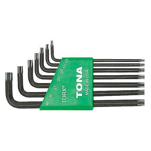 Sada zástrčných klíčů TORX s otvorem, 7dílná