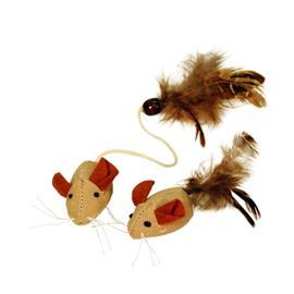 Hračka pro kočky myši 2 ks