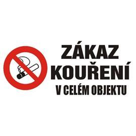 Zákaz kouření v celém objektu - plast 50x23 cm