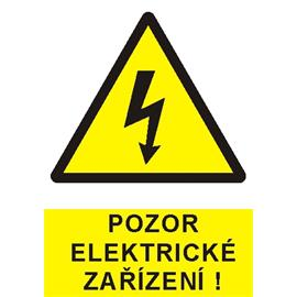 Pozor elektrické zařízení ! - plast A5