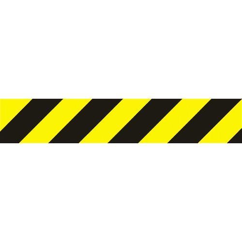 Pruhy žlutočerné - levé 56x10 cm - samolepící