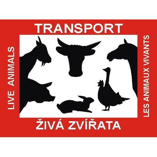 Tabulka pro přepravu zvířat - 40x30 cm - samolepící