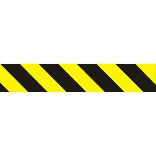 Pruhy žlutočerné - pravé 56x10 cm - samolepící
