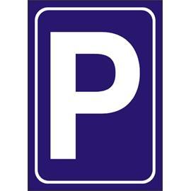 Dopravní značka PARKOVIŠTĚ - plast 3 mm, A4