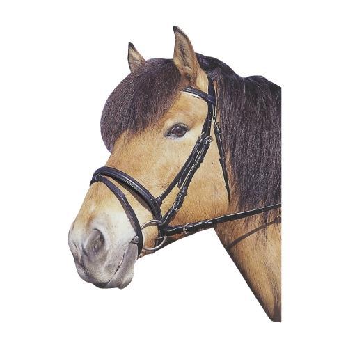 Kožená uzdečka Kerbl, černá/hnědá - černá, vel. Pony