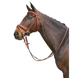 Kožená uzdečka Harrys Horse se švédským nánosníkem, hnědá - Cob
