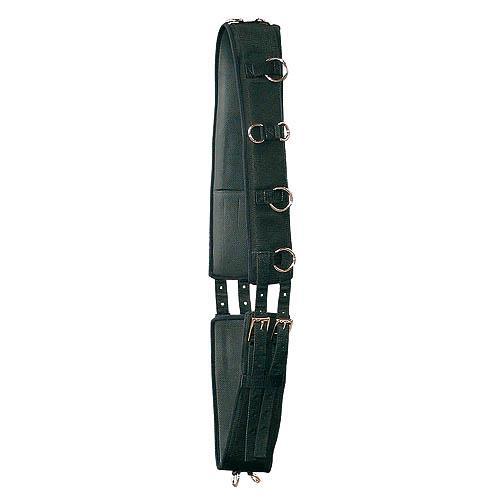 Nylonový lonžovací obřišník, černý - Full