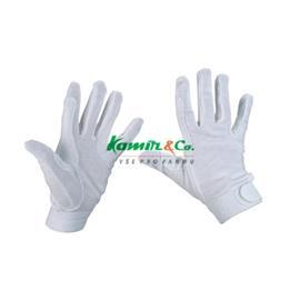 Jezdecké rukavice Covalliero Jersey, bílé - L