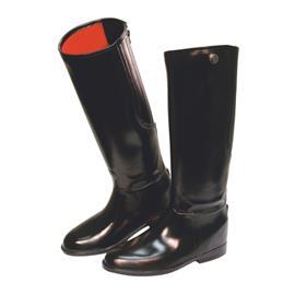 Gumové jezdecké boty Covalliero Flexo, černé - 42