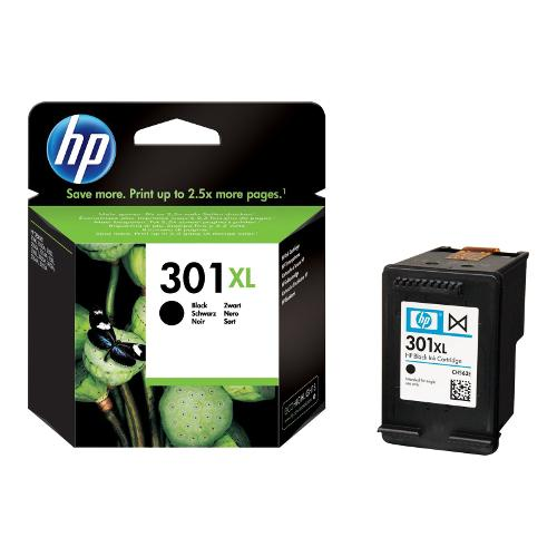 Inkoustová náplň HP CH563EE č. 301XL černá Foto HP originální inkoustová náplň CH563EE#301, No.301XL, black, 480str., blistr, HP HP Deskjet 100