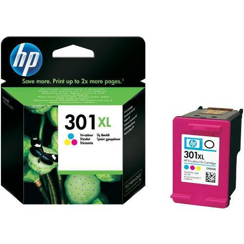 Inkoustová náplň HP CH564EE č. 301XL tříbarevná Foto HP originální inkoustová náplň CH564EE#301, No.301XL, color, 330str., blistr, HP Deskjet 1000,