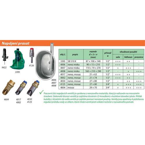 Náhradní ventil pro miskovou nápáječku SB 510 K