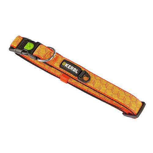 Obojek pro psa reflexní, oranžový - 45-65 cm