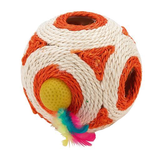 Hračka pro kočky míč sisal, 12 cm
