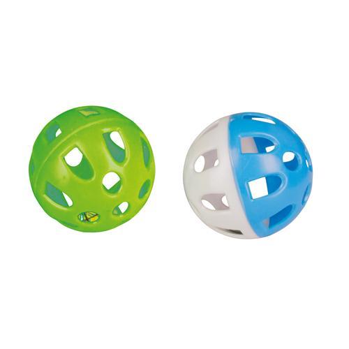 Hračka pro kočky plastový míč, 2 ks, 5 cm