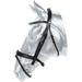 Kožená uzdečka Kentaur s kovovými kroužky - černá, vel. Cob