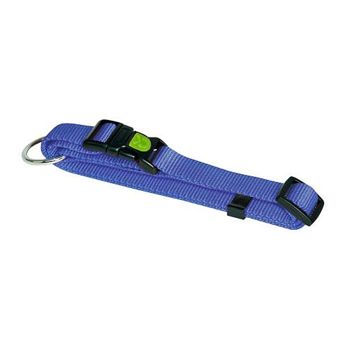 Obojek pro psa, nylonový, modrý - 20 - 35 cm