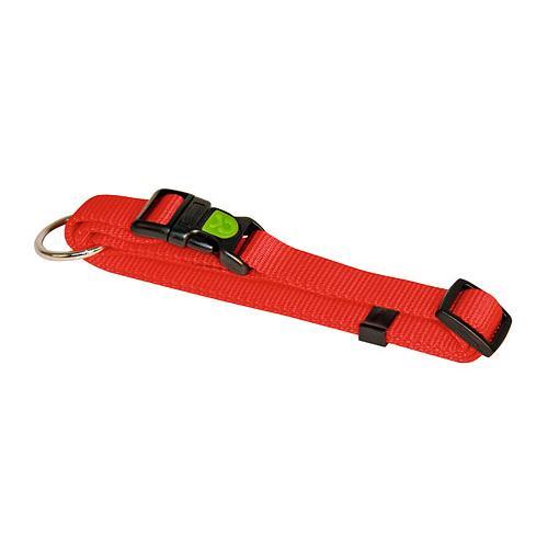 Obojek pro psa, nylonový, červený - 30-45 cm