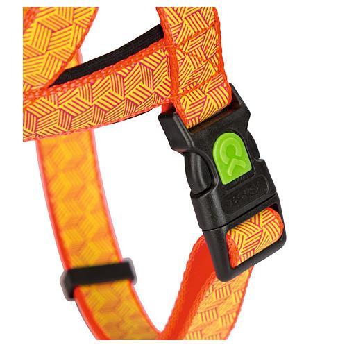Postroj na psa, reflexní, oranžový - 60 - 75 cm