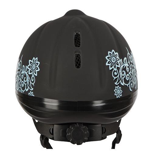 Jezdecká bezpečnostní přilba Covalliero Beauty - černá, vel. 52-55 cm Přilba jezdecká bezp. dětská Beauty, černá, S/M