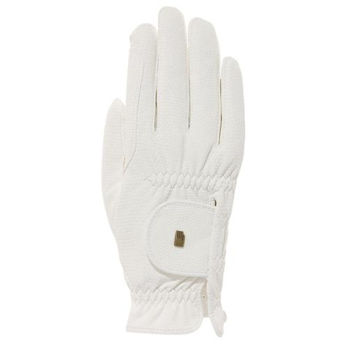 Jezdecké rukavice Roeckl Roeck-Grip, bílé - vel. 6 Rukavice jezdecké Roeckl, Roeck-Grip, bílé