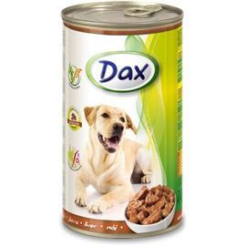 Konzerva pro psy DAX, kousky játra, 1240 g