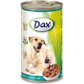 Konzerva pro psy DAX, kousky zvěřina, 1240 g