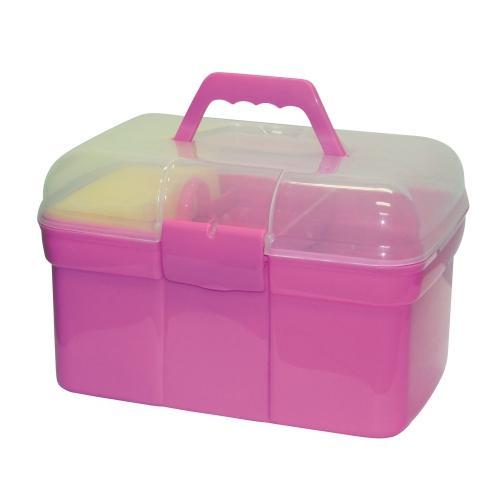 Dětský box na čištění Kerbl, s výbavou - Růžová
