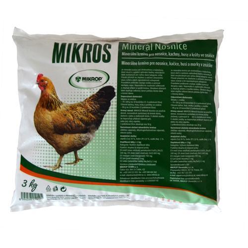 Minerální doplněk nosnice slepice MIKROS, 3 kg
