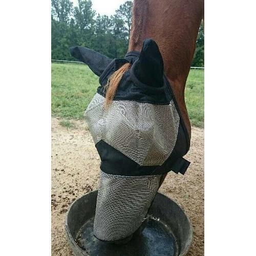 Maska proti hmyzu s ušima Horze, béžová - vel. Pony