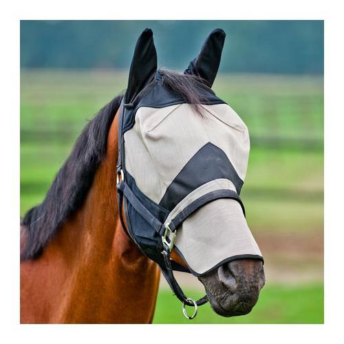 Maska proti hmyzu s ušima Horze, béžová - vel. Pony maska Horze
