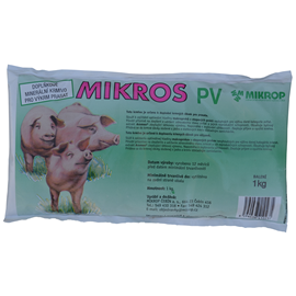 Minerální doplněk pro prasata MIKROS PV, 1 kg